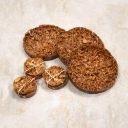 Salted almond caramel brittle