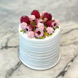Mini Pistachio Raspberry Vanilla Cake
